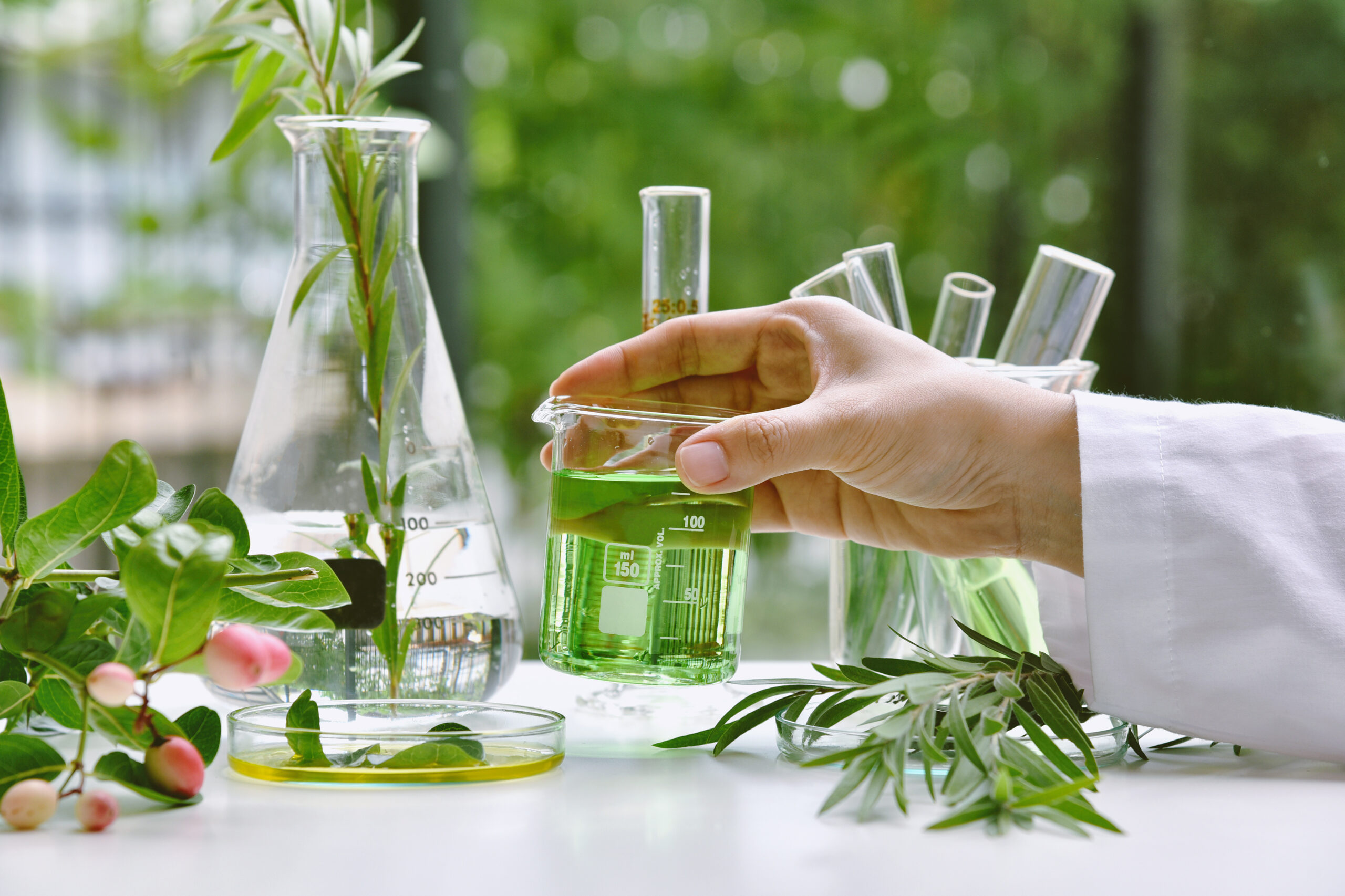 Scientist_natural_drug_research_organic_scientific_extraction_medicine_cannabis_products_Laboratory